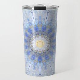 Crystal Blue Decorative Mandala Travel Mug