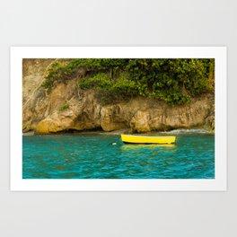 Yellow Boat Art Print