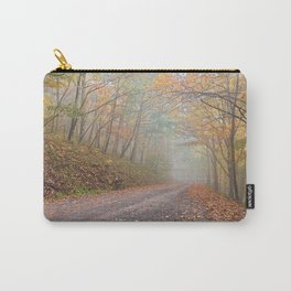 Misty Autumn Forest Road Carry-All Pouch