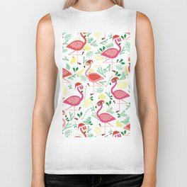 FLAMINGO CHRISTMAS Biker Tank