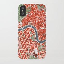 Rome city map classic iPhone Case