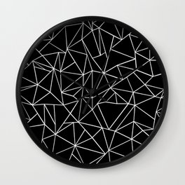 Abstraction Outline Black and White Wall Clock