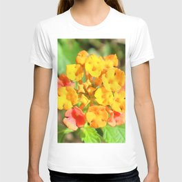 Watercolor Flower, Lantana 01, Gulf Island Beach, Florida T-shirt