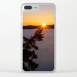 Sunset Tree Top Clear iPhone Case