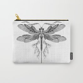 Dragon Fly Tattoo Black and White Carry-All Pouch