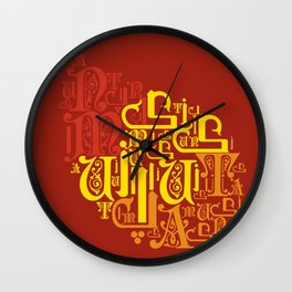 A U T U M N Wall Clock