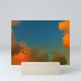 Orange and Blue Skies Mini Art Print