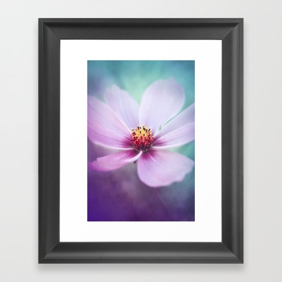 BEAUTY OF THE FOREST - PINK COSMEA FLOWER Framed Art Print