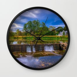 Wehr's Dam Storm Clouds HDR Wall Clock