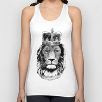 lion king Tank Tops featuring Lion King by dalsdesign