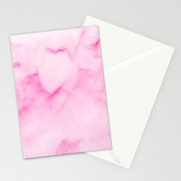 Light Pink Marble Stationery Cards