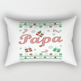 Papa Christmas Rectangular Pillow
