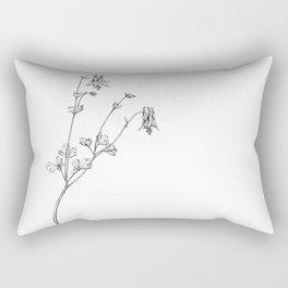 Eastern Red Columbine Rectangular Pillow