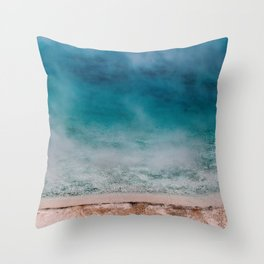 Hot Blue Throw Pillow