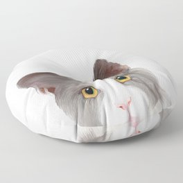 Cat with Yellow Eyes Floor Pillow