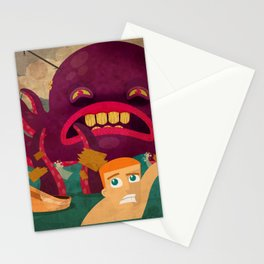 giant octopus Stationery Cards