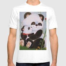 Panda Love Mens Fitted Tee White MEDIUM