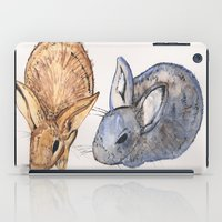 rabbits iPad Cases featuring rabbits by 5CUZ1