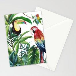 JUNGLE BIRDS PRINT Stationery Cards
