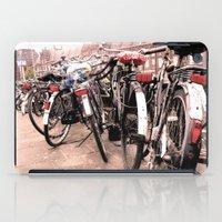 bikes iPad Cases featuring Amsterdam Bikes by Ann Yoo
