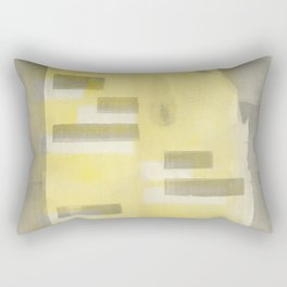 Stasis Gray & Gold 1 Rectangular Pillow