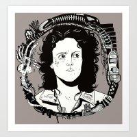 ripley Art Prints featuring ELLEN RIPLEY by marimattes