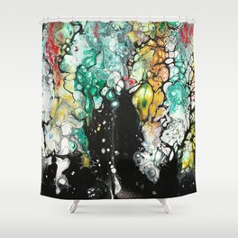 252, On a Butterfly's Wing Shower Curtain