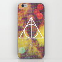 deathly hallows iPhone & iPod Skins featuring Deathly Hallows by Michal