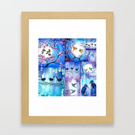Purples and Blues Framed Art Print