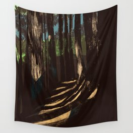 Path Through the Redwoods Wall Tapestry