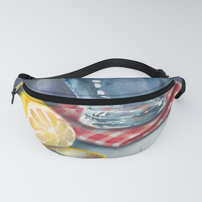 Lemon and a water jug Fanny Pack