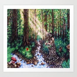 By the River's Edge Art Print