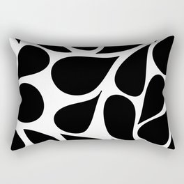 Abstract Black & White Foliage Pattern - Mix and Match with Simplicity of Life Rectangular Pillow