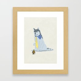 Wolf Hanzo and Sparrow Genji Framed Art Print
