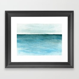 Calm sea 1985 Framed Art Print