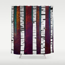 Forest - The Time of the Sun Shower Curtain