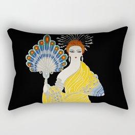 "Art Deco Design ""Aphrodite"" by Erte Rectangular Pillow"
