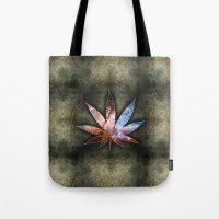 marijuana Tote Bags featuring Marijuana Leaf - Design 2 by Spooky Dooky