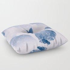 Snow bunny Floor Pillow