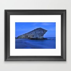 Blue sea. Monsul Framed Art Print