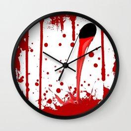 BLEEDING RED ART Wall Clock