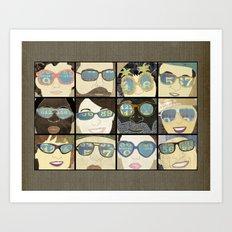 Glasses Horizontal Art Print