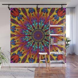 Amazing colors 3D mandala Wall Mural
