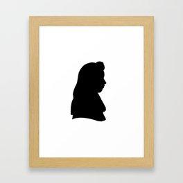 Silhouette - Custom Onyx and Snow Framed Art Print