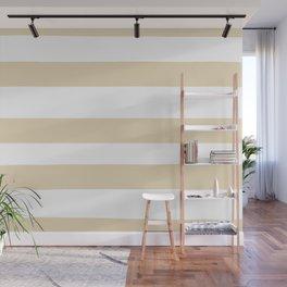 Valspar America Wood Yellow - Homey Cream - Glow Home Hand Drawn Fat Horizontal Stripes on White Wall Mural