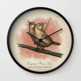 Gossiping House Wren Wall Clock