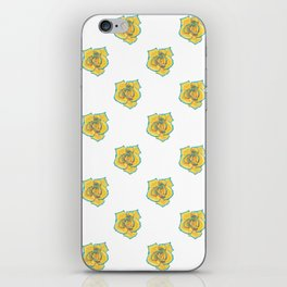 Yellow and Turquoise Rose iPhone Skin