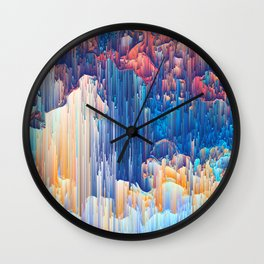 Glitches in the Clouds Wall Clock