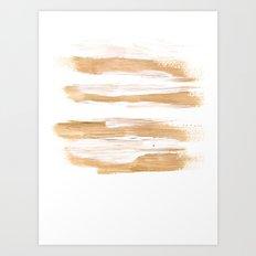 Golden Strokes Art Print