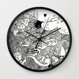 Kendylife is back (B&W) Wall Clock